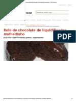 Receita de Bolo de Chocolate de Liquidificador Molhadinho - Todo Saboroso