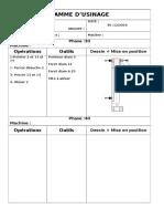 Gamme d'Usinage Pahse30et 40