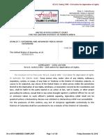 Case No. 16-cv-4014 CATERBONE v. the United States of America, et.al. AMENDED COMPLAINT December 30, 2016