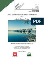 FERC environmental impact statement on the Atlantic Sunrise pipeline
