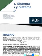 Termodinámica Sistema abierto y cerrado