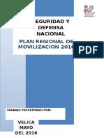 Plan Regional de de Movilizacion 2015