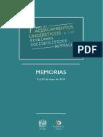Memorias Linguistica Critica