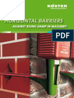 KOESTER System Brochure Horizontal Barriers Against Rising Damp in Masonry