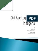 Old Age Legislation in Nigeria