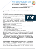 Ordenanza Municaipal San Isidro Adjudicacion Alquipa