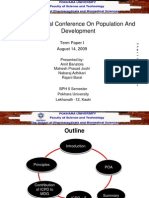 Presentation on International Conference on Population and Development by Amrit Banstola