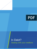 In Debt - Dealing With Your Creditors