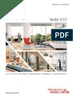 Tarifa 2017 Mitsubishi Electric