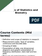 Statistics and Freq Distribution
