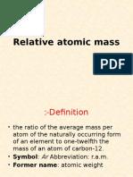 0- Relative Atomic Mass