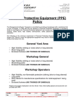 11. Personal Protective Equipment Policy RT POL 009
