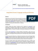 Using Online Forums in Language Learning and Education