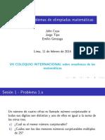 Coloquio Irem 2014 - Taller Problemas de Olimpiadas - Parte 1
