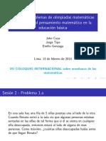 Coloquio Irem 2014 - Taller Problemas de Olimpiadas - Parte 2