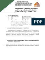Modelo de Acompañamiento y Monitoreo 2015