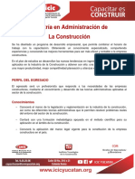 Informacion Maestria en Administracion de La Construccion 2016