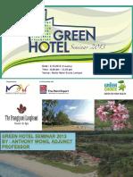 Green Hotel - Why Go Green?
