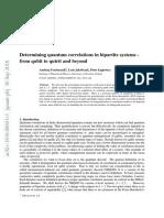 Determining Quantum Correlations in Bipartite Systems
