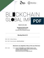 Stanford Blockchain Workshop Final Agenda