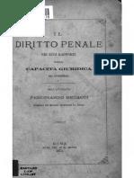 Il Diritto Penale Nei Soui Rapporti Solla Capacità Giuridica