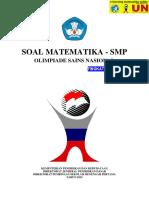 Naskah Soal OSN SMP Bidang Matematika Tingkat Nasional Tahun 2015