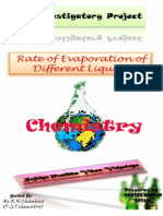 Chemistry Investigatory Project rate of evaporation of different liquids