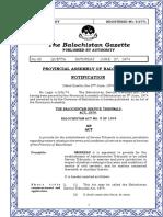The Balochistan Service Tribunals Act 1974