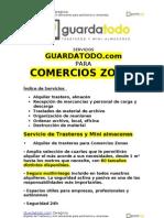 Servicio de alquiler de trasteros para Comercios Zonas