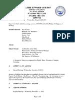 Huron Township Board of Trustees - 28 Dec 2016 - Special - Minutes - PDF