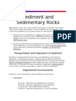 Sediment and Sedimentary Rocks