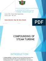 Compounding of Steam Turbine Lecture Sli