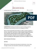 Corruption and Caste in Goa