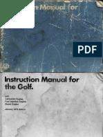 Golf Mk1 Manual