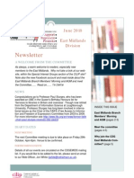 CDG East Midlands newsletter June 2010