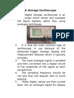 Digital Storage Oscilloscope12