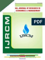 Ijrcm 3 IJRCM 3 Vol 3 2013 Issue 6 June