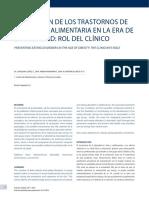 Prevención de Los Trastornos de Conducta Alimentaria en La Era de La Obesidad Rol Del Clínico