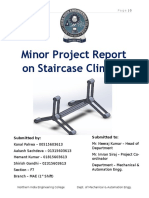 Mechanical Engineering Minor Project Report on Staircase Climber MAE IPU