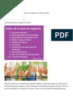 Modelo Canvas 1 y Puntos de Plan de Negocios