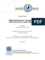 High-Performance Tomographic Reconstruction using OpenCL