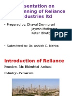 Tax Planning of Reliance