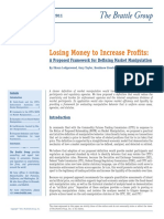 Losing Money to Increase Profits - A Proposed Framework for Defining Market Manipulation March 2011