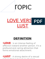 Lust Versus Love