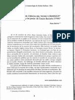Beirne - Beccaria y La Ciencia Del Homo Criminalis