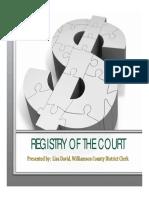 Registry of the Court - Lisa David