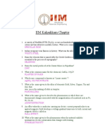 Model Questions of iim