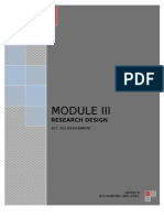 Module 3 Acc 323-Research Design
