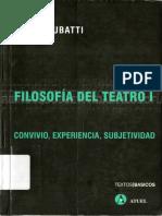 Teatralidad Social y Teatralidad Poiética - Filosofía Fel Teatro I (1)