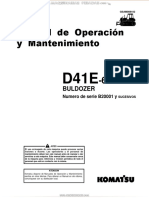 Manual Operacion Mantenimiento Tractor Cadenas d41e 6 Komatsu